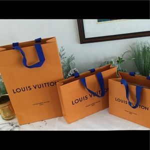 Louis Vuitton empty gift bags